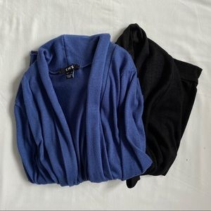 3/20$ Two SWS cardigans blue black